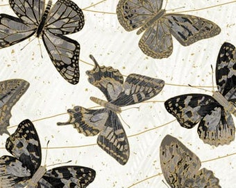 Shimmer Fantasia Shadow - Butterfly -  Northcott Studio -  22957M  91 -  Priced by the Half Yard
