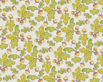 Acorn Fabric - Cori Dantini - Little Acorn Fabric by Cori Dantini Good Company - Blend Fabrics 112 105 06 2 Gray - Priced by the half yard