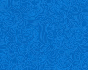 Just Color - Color Swirl - Color Tonal - Studio E - 1351 Aegean Blue - Priced by the half yard