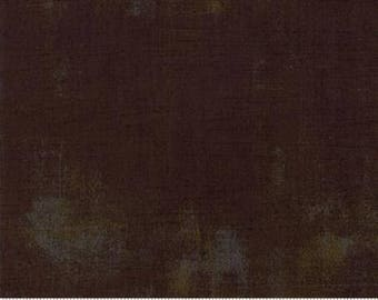 Brown Textured Fabric - Grunge Basics by BasicGrey for Moda Fabrics 30150 416 -  Chocolate Bison - Priced by the half yard
