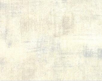 Cream Textured Fabric - Creme Grunge by BasicGrey for Moda Fabrics 30150 270 Creamy White - end of bolt 23-inch