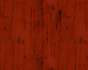 Barn Texture Fabric, Wood Plank Fabric - Homestead by Jennifer Pugh for Wilmington Prints 82540 339 Red - Priced by the 1/2 yard