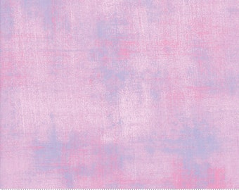 Pink Textured Fabric - Lupine Grunge by BasicGrey for Moda Fabrics 30150 472 Pink with Purple - Priced by the 1/2 yard