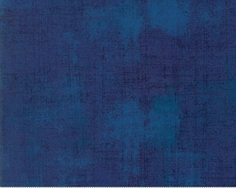 Blue Textured Fabric - Regatta Grunge by BasicGrey for Moda Fabrics 30150 352 Dark Blue - Priced by the 1/2 yard