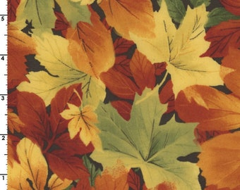 Fall foliage, Autumn Leaves - Landscape leaves - Maywood Studio 90292 - Priced by the half yard