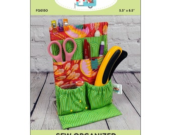 Sew Organized Stand Up Craft Sewing Organizer - Joanne Hillestad FQG 250- DIY Project - Pattern & Stand Up Frame Included