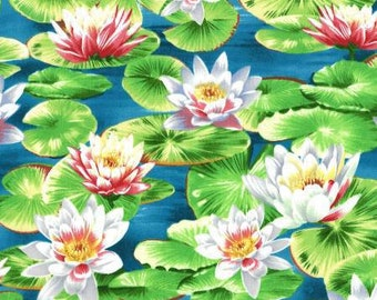 Water fabric - Water Lily - Summer pond - Landscape Collection Michael Miller DC 4170 - Priced by the 1/2 yard