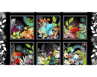Unusual Garden - Floral Panel - In The Beginning - 3UG 1 Red Floral Accent - Priced by the 24-Inch Panel