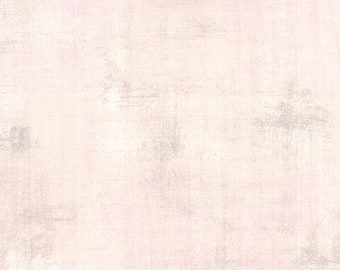 Pink Textured Fabric - Ballet Slipper Grunge by BasicGrey for Moda Fabrics 30150 286 Pale Pink - Priced by the 1/2 yard