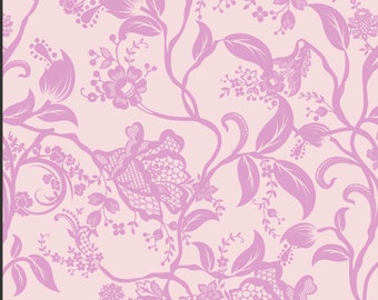 Closeout - Pink Floral Fabric - Dreaming in French Pink Coquette by Pat Bravo for Art Gallery Fabrics DIF 804 Pink - Sold by the yard