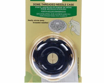 Needle Case - Dome Threaded by Clover #625 - Blue - 10-needle capacity