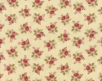 Atelier Petite Floral Fabric by 3 Sisters for Moda Fabrics 44056 11 cream/natural - Priced by the 1/2 yard