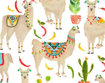 Llama Fabric - Southwest Fabric - Stuck on You by Timeless Treasures C7213 - Priced by the Half yard