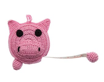 Animal Tape Measure, Crocheted Tape Measure, 60-Inch (150 cm) Tape Measure  - Sold by the Each - colors may vary