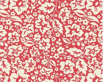 Red Floral Fabric - Sweetest Thing by Zoe Pearn for Riley Blake Designs C2982 Red - Priced by the 1/2 yard