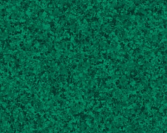 Spruce Blue Green Solid Textured Fabric - Quilting Treasures QT Basics Color Blend - 23528 GF - Priced by the 1/2 yard
