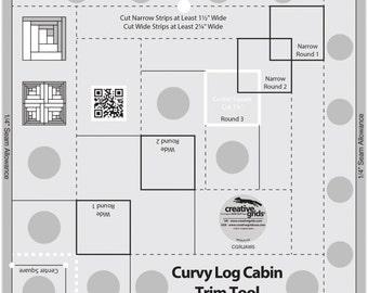 Curvy Log Cabin 8-InchTrim Ruler - Creative Grids by Jean Ann Wright CGRJAW5 - Acrylic