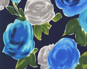 Marilyn Rose Fabric - From On the Town by  Michael Miller Fabrics CX 6665 Navy - Priced by the Half Yard