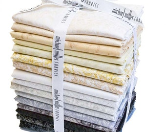 Fairy Frost Fat Quarter Bundle Fabric - Glimmer Fabric - Michael Miller FQ-0163 - Neutral - 17-pack