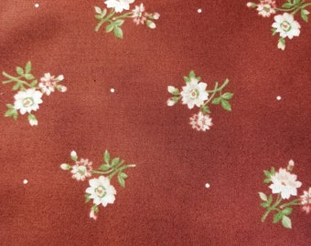 Red Floral Fabric from My Secret Garden by Marti Michell and Maywood Studios 1973-R - 1/2 yard