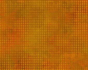 Dit Dot Evolution Fabric - Blender Fabric - Marble Fabric - In the Beginning Fabric -  1DDE-15 Cheddar Orange -- Priced by the 1/2 yard