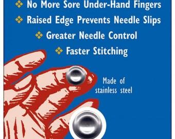 Dimple Thimble SM3100 -  Concave Thimble - Adhesive Thimble - Finger Pad - Thimble It - Colonial Needle Co - 12 per pack