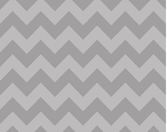 Medium Chevron Fabric by Riley Blake Designs C380 41 Taupe Gray - Priced by the 1/2 yard