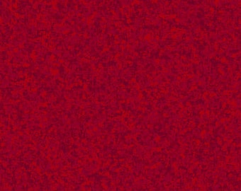 Sangria Red Solid Textured Fabric - Quilting Treasures QT Basics Color Blend - 23528 MR - Priced by the 1/2 yard