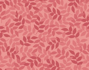 Harmony Blender Fabric - Leaf Fabric by Quilting Treasures 24777 D Dusty Rose Pink - Priced by the 1/2 yard
