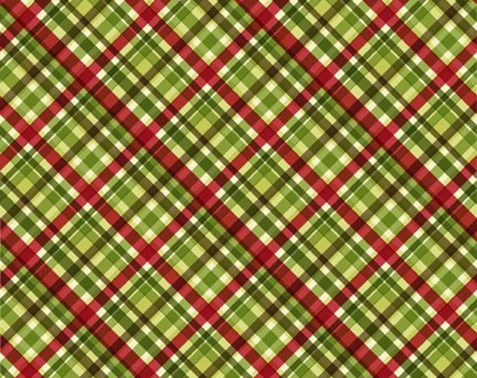 Featured listing image: Christmas Plaid - Poinsettia Winter - Christmas Fabric - In The Beginning - 10APW 1 Green - Priced by the 1/2 yard
