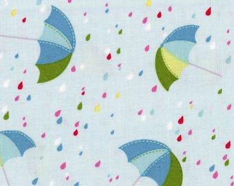 Umbrella Fabric - Crafty Cotton for Maywood Studio - 9735 0122 - Blue - Priced by the half yard