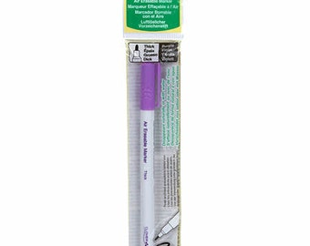 Air Erasable Marker  - choose Thick or Medium Purple - Clover # 5031CV or Collins C28