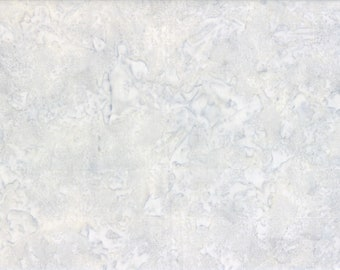 Solid Batik Fabric - Wilmington Rock Candy Batik - Washed Solid -  2678 900 Pale Gray - Priced by the half yard