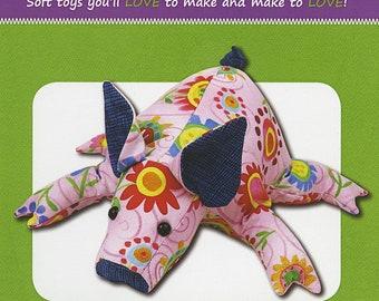 Pig Stuffed Toy Pattern - Funky Friends Factory designed by Pauline - Petunia Piglet 4422 - DIY Pattern