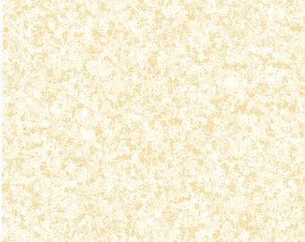 Vanilla Solid Textured Fabric - Quilting Treasures QT Basics Color Blend - 23528 EA - Priced by the 1/2 yard