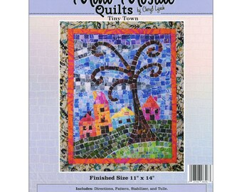Tiny Town Mosaic - Mini Mosaic Quilts From Oy Vey Quilt Designs By Cheryl Lynch - MM396 - DIY Pattern