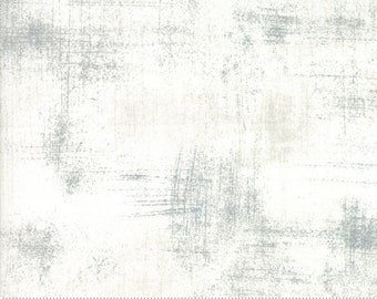 Grunge Basics Fabric by Basic Grey for Moda Fabrics 30150 435 White Gray - Metropolis Fog - Priced by the Half yard