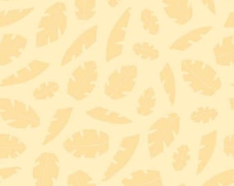 Leaf Tonal Fabric - Two of a Kind Leaves by Springs Creative 10132 Yellow - Priced by the 1/2 yard