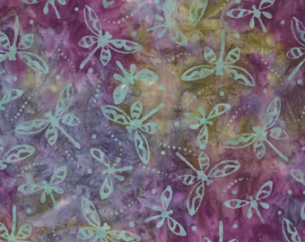 Dragonfly Batik - Marbled Batik -  Coastal Chic - Maywood Studio MAS B20 22 Purple - Priced by the half yard