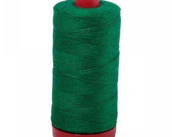 Aurifil 12wt Wool Thread - Wool Lana Acrylic/Wool Embroidery & Quilting Thread 12 wt - 50% wool - Lawn Green 8880