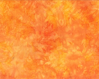 Solid Batik Fabric - Wilmington Rock Candy Batik - Washed Solid -  2678 858 Orange - Priced by the half yard