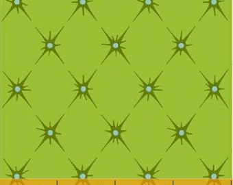 Pin tuck design fabric - Kingdom Fabric by Jessica Levitt for Windham Fabrics 33212 2 Lime Green - end of bolt 22-inch
