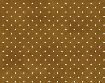 Pin Dot Fabric, Blender Fabric - Beautiful Basics by Maywood Studios Mas 609 S Brown - Priced by the 1/2 yard