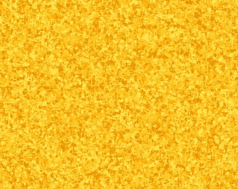 Sunflower Yellow Solid Textured Fabric - Quilting Treasures QT Basics Color Blend - 23528 ST - Priced by the 1/2 yard