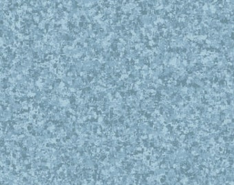 Chambray Light Blue Solid Textured Fabric - Quilting Treasures QT Basics Color Blend - 23528 BZ - Priced by the 1/2 yard