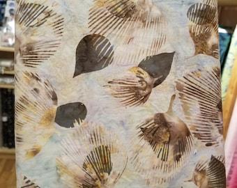 Hoffman Bali Batik - Leaf Etching Fan Leaf - Hoffman Fabrics - 2243 302 - Stone Gray - Priced by the Half Yard