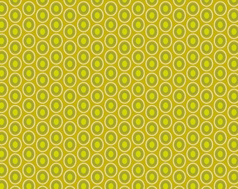 Chartreuse Polka Dot Fabric - Oval Elements Chartreuse by Pat Bravo for Art Gallery Fabrics OE 907 - Priced by the Half Yard