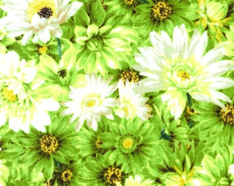 Princess Passion Tonal Daisy - Elite by Maywood Studio PP006 A Green - Priced by the half yard