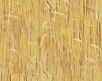 Northcott Faithful Friends - Naturescape - Golden Wheat - 21380 34 - Priced by the Half Yard