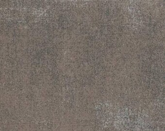 Gray Textured Fabric - Grunge Basics by BasicGrey for Moda Fabrics 30150 156 Med. Gray - Priced by the 1/2 yard